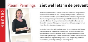 My first column in Bionieuws